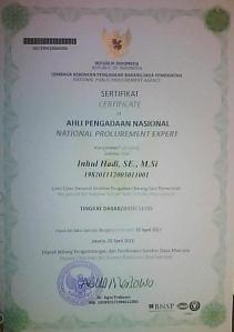 sertifikat PBJ